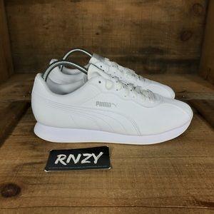 NEW Puma Turin II Triple White Leather Sneaker